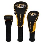 Missouri Tigers Nylon Graphite Golf Set of 3 Head Covers