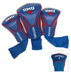 Southern Methodist (SMU) Mustangs Golf Contour 3 pack Head Covers