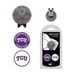 Texas Christian University Horned Frogs 2 Marker Golf Hat Clip