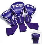 Texas Christian University Horned Frogs Golf Contour 3 pack Head Covers