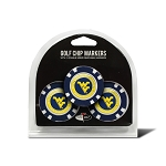 West Virginia Mountaineers Golf 3 Pack Poker Chip