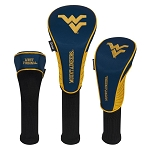 West Virginia Mountaineers Nylon Graphite Golf Set of 3 Head Covers