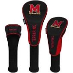 Maryland Terrapins Nylon Graphite Golf Set of 3 Head Covers