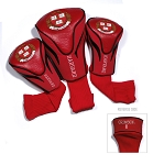 Harvard Crimson Golf Contour 3 pack Head Covers