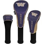 Washington Huskies Nylon Graphite Golf Set of 3 Head Covers