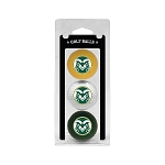 Colorado State Rams Golf Ball Clamshell