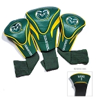 Colorado State Rams Golf Contour 3 pack Head Covers