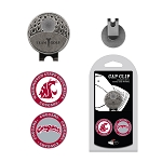 Washington State Cougars 2 Marker Golf Hat Clip