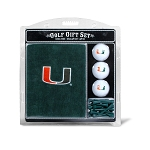 Miami Hurricanes Embroidered Golf Gift Set