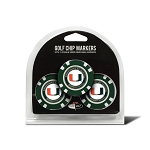 Miami Hurricanes Golf 3 Pack Poker Chip
