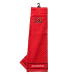 Miami (Ohio) Redhawks Embroidered Golf Towel