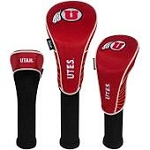 Utah Utes Nylon Graphite Golf Set of 3 Head Covers