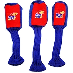 Kansas Jayhawks Set of 3 Graphite Head Covers