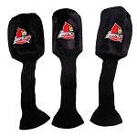Louisville Cardinals Set of 3 Graphite Head Covers