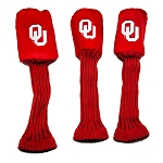 Oklahoma Sooners Set of 3 Graphite Head Covers