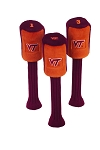 Virginia Tech Hokies Set of 3 Graphite Head Covers