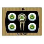 Colorado State Rams 4 Ball Divot Tool Golf Gift Set