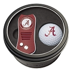 Alabama NCAA Gift Set Switchblade Divot Tool with Double-Sided Magnetic Ball Marker & Golf Ball