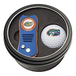 Florida Gators NCAA Golf Gift Set Switchblade Divot Tool with Double-Sided Magnetic Ball Marker & Golf Ball