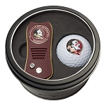 Florida State NCAA Golf Gift Set Switchblade Divot Tool with Double-Sided Magnetic Ball Marker & Golf Ball