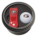 Georgia Bulldogs NCAA Golf Gift Set Switchblade Divot Tool with Double-Sided Magnetic Ball Marker & Golf Ball