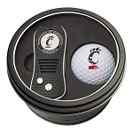 Cincinnati Bearcats NCAA Golf Gift Set Switchblade Divot Tool with Double-Sided Magnetic Ball Marker & Golf Ball