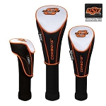 Oklahoma State Cowboys Nylon Graphite Golf Set of 3 Head Covers