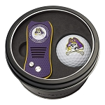East Carolina NCAA Golf Gift Set Switchblade Divot Tool with Double-Sided Magnetic Ball Marker & Golf Ball