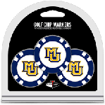 Marquette Golden Eagles Golf 3 Pack Poker Chip