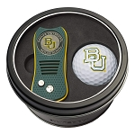 Baylor NCAA Golf Gift Set Switchblade Divot Tool with Double-Sided Magnetic Ball Marker & Golf Ball