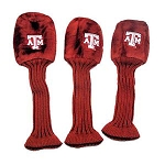 Texas A&M Aggies Graphite Golf Headcover Set- 3 pieces