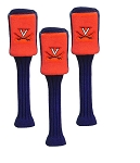 Virginia Cavaliers Set of three Plush Graphite Golf Headcovers