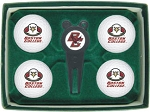Boston College Eagles 4 Ball Divot Tool Golf Gift Set