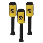Iowa Hawkeye Plush Graphite Golf Headcover Set- 3 pieces