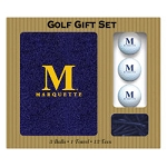 Marquette Golden Eagles Embroidered Golf Gift Set
