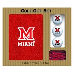 Miami (Ohio) Redhawks Embroidered Golf Gift Set