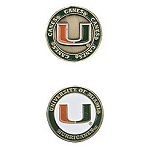 Miami Hurricanes Golf Ball Marker