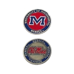 Mississippi Rebels Golf Ball Marker