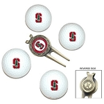Stanford Cardinals 4 Ball Divot Tool Golf Gift Set