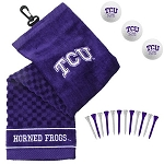 Texas Christian University Horned Frogs Embroidered Golf Gift Set