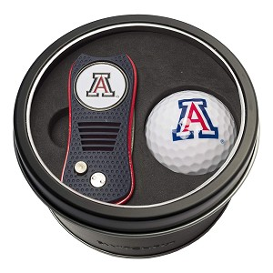 Arizona NCAA Gift Set Switchblade Divot Tool with Double-Sided Magnetic Ball Marker & Golf Ball