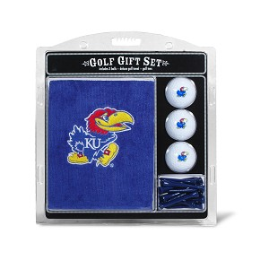 Kansas Jayhawks Embroidered Golf Gift Set