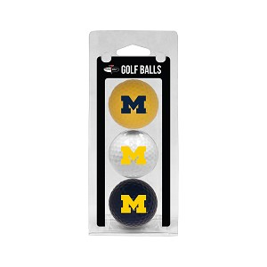 Michigan Wolverines Golf Ball Clamshell