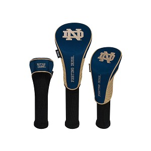 Notre Dame Fighting Irish Nylon Graphite Golf Set of 3 Head Covers