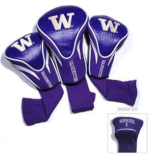 Washington Huskies Golf Contour 3 pack Head Covers
