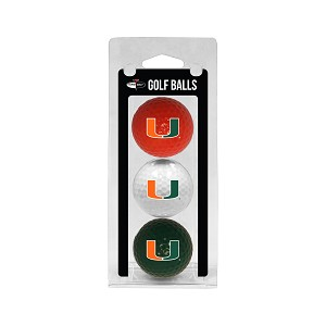 Miami Hurricanes Golf Ball Clamshell