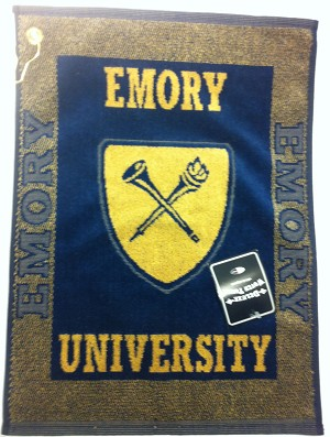 Emory Eagles Logo Jacquard Golf Towel
